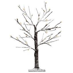 LED-Baum mit Schneeeffekt, groß, braun