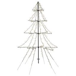LED-Tannenbaum Light-up, 200 cm, Metall, schwarz