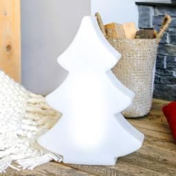 8 Season LED Shining Tree, 39x28x10 cm, Polyethylen, weiß