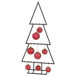 Weihnachtsbaum-Silhouette, 77x38x10 cm, Metall, schwarz