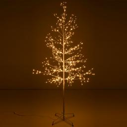 Micro-LED-Baum Snow Light, groß, 180 cm, Metall, weiß