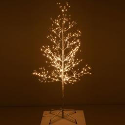 Micro-LED-Baum Snow Light, klein, 150 cm, Metall, weiß