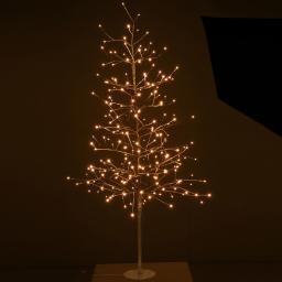 LED-Baum Goldy, 150cm, Metall, matt gold
