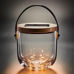 Krinner Lumix Deco Glas Basic, 15x14,5x14,5 cm, Glas, Bambus, klar
