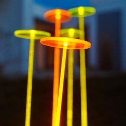 Swing Lights, 76x10x10 cm, Acrylglas, orange