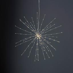 Star LED-Leuchtstern Firework, 45 cm, Metall, silber
