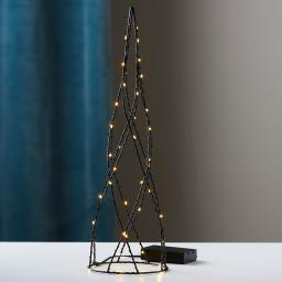 LED-Kegel Helix, 40x12x12 cm, Metall, schwarz