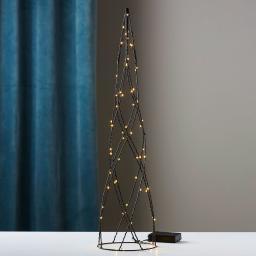 LED-Kegel Helix, 60x15x15 cm, Metall, schwarz