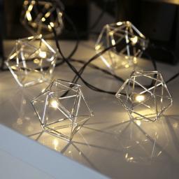 Star LED-Lichterkette Edge, 225cm, Metall, silber