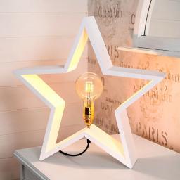 Star Holzstern Lysekil, 48x50x10 cm, Holz, weiß