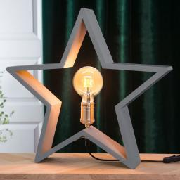 Star Holzstern Lysekil, 48x50x10 cm, Holz, grau