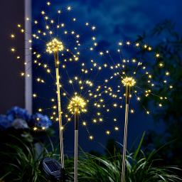 Solar-Gartenstecker Twinkle, 3er-Set, LED, 85 cm Ø 26 cm