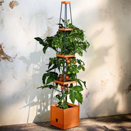 Tomaten-Tower, mit eckiger Rankhilfe, 25x25x127 cm