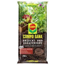 Compo Sana® Anzucht- und Kräutererde, 20 Liter