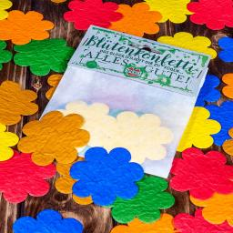 Konfetti aus Saatpapier Blütenkonfetti