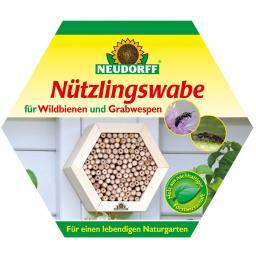 Insektenwabe für Wildbienen und Graswespen
