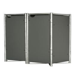 Mülltonnenbox 140l Kunststoff, 2er Box, grau