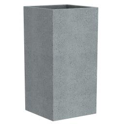 Pflanzkübel High Cube, 26x26x70 cm, Stony Grey