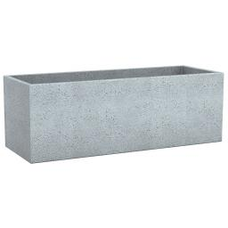 Pflanzkübel Long Cube, 80x29x27 cm, Stony Grey