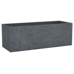 Pflanzkübel Long Cube, 80x29x27 cm, Stony Black