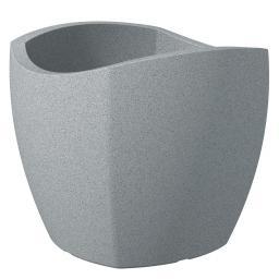 Pflanzkübel Wave Cubo, 50 cm, Stony Grey
