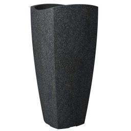 Pflanzkübel Wave High Cubo, 40x80 cm, Granitschwarz