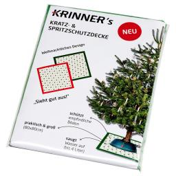 Christbaum Unterlegdecke, 80x80 cm, grün