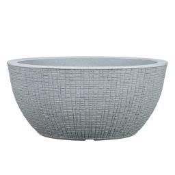 Pflanzkübel Barceo Bowl, 40cm, Grau