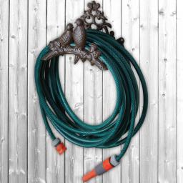 Schlauchhalter Singdrossel, Gusseisen, ca. 16 x 25 x 18 cm