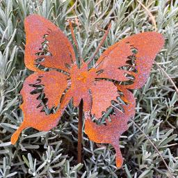 Gartenstecker Butterfly, Edelrost, 52 cm