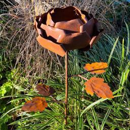 Gartenstecker Rosenzauber, Edelrost, ca. 99 cm