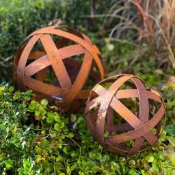 Dekokugel Gartenjuwel , Edelrost, ca. 20 cm