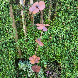 Gartenstecker Blütenturm, Edelrost