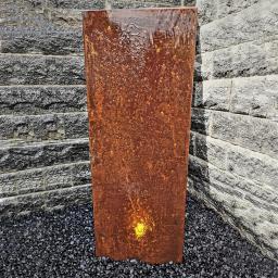 Wasserwand Husum klein Cortenstahl x, mit Zubehör & Becken, 130x45x6cm