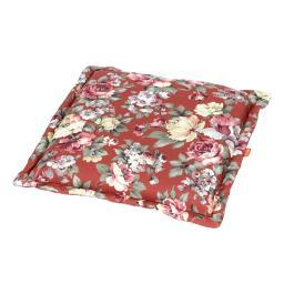 Sitzkissen-Auflage Lissa, Blume-terrakotta