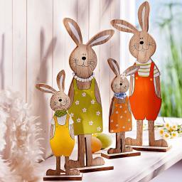 Dekofiguren Set Hasenfamilie, 4-teilig