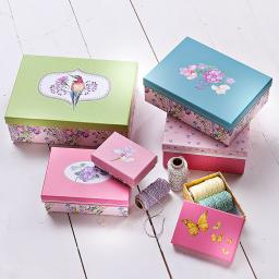 Geschenkeboxen Set, kunterbunt, 10-teilig