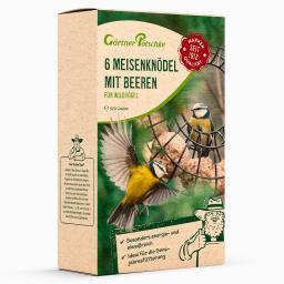 Meisenknödel mit Beeren für Wildvögel, ohne Netz, 6 Stück