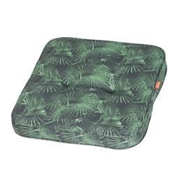 Sitzkissen Tarent, 47x47 cm, grüne Palme