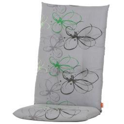 Hochlehner-Auflage Gabi, grüne Blume