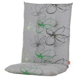 Gartenstuhl-Auflage Gabi, grüne Blume