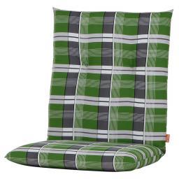 Gartenstuhl-Auflage Gabi, karo grün