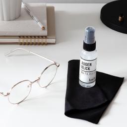 Natürlicher Brillenreiniger Augenblick Set, mit Putztuch, 50 ml
