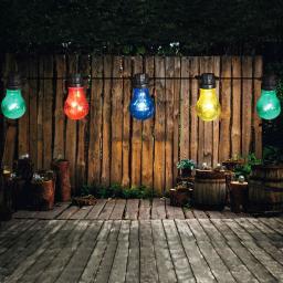 LED Lichterkette Birnen, 10 m, bunt