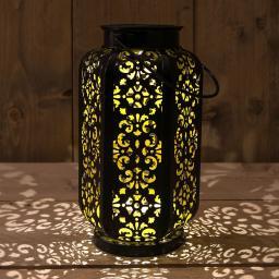 Solar Lanterne, Metall, 13x22 cm, schwarz
