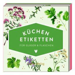 Küchen-Etiketten für Gläser & Flaschen, Kräuter (Küchenpap.)