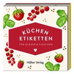 Küchen-Etiketten für Gläser & Flaschen, Rote Beeren (Küchenpap.)