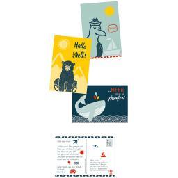 Postkarten-Stempelset Reisezeit Kids
