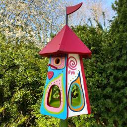Nistkasten mit Vogelhaus Gute Laune