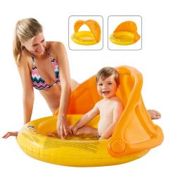 Babypool mit Sonnendach, 85x54cm, orange